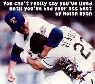 Nolan Ryan.  One if the greatest baseball moments ever!