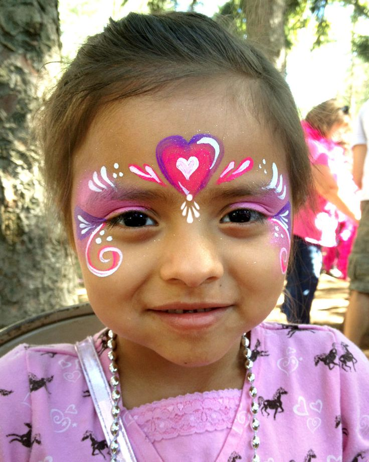 face+painting+pictures | ... Face Painter Valery Lanotte - Pink Heart Princess | Face Painting