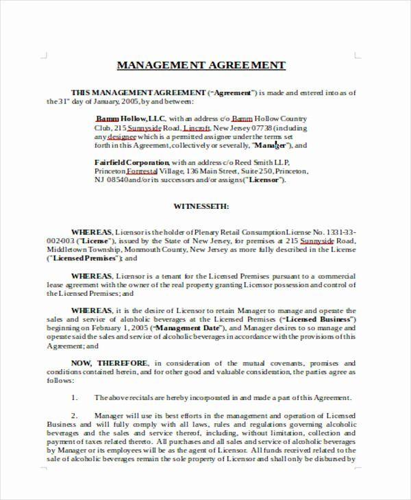 Property Management Contract Template Unique 15 Management Agreement Templates Word Pdf In 2020 Property Management Contract Template Management