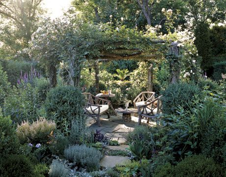 When the afternoon shade comes in, wouldn't you want to retreat to this backyard garden?: Secret Gardens, Outdoor Rooms, Arbors, Country Living, Outdoor Gardens, Backyard Retreat, Backyard Gardens, Outdoor Spaces, Gardens Tours