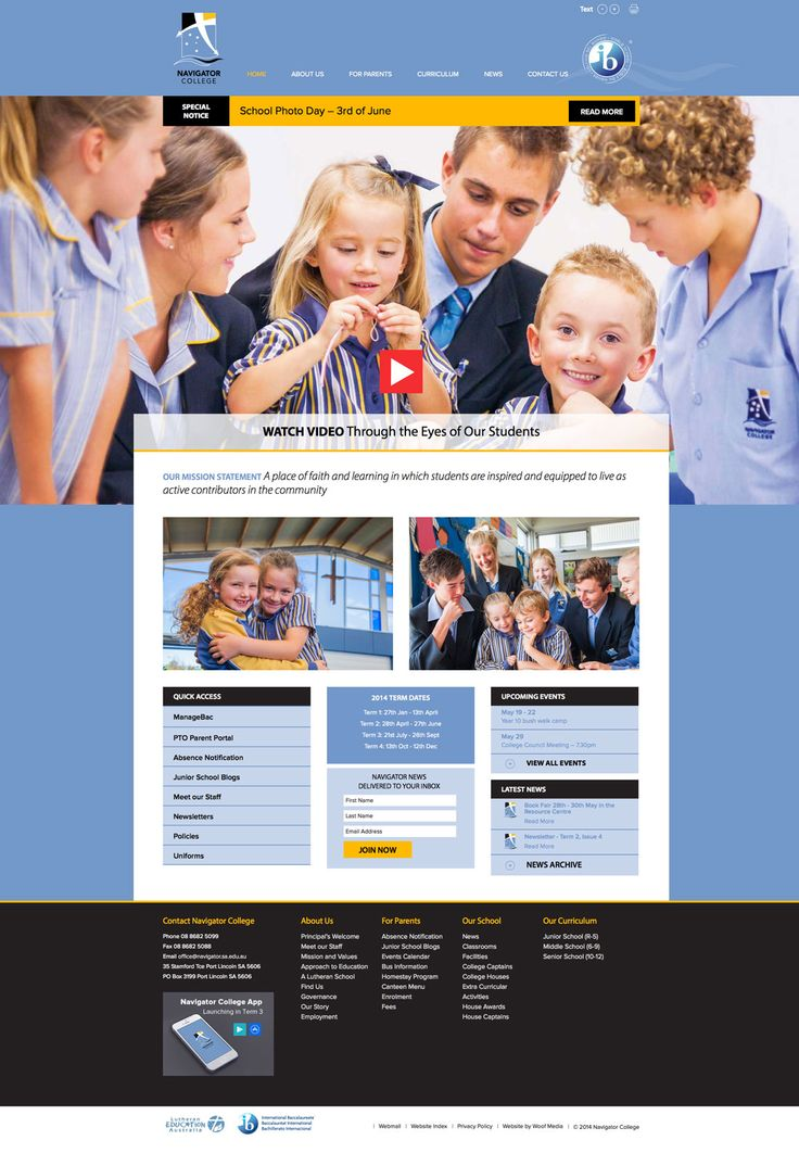 Navigator College. Woof Media designed and developed a new responsive Website and feature video, along with the development of the school's email marketing strategy.