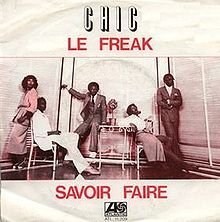 """""""Le Freak"""" is a successful 1978 disco song by the disco band Chic. It was the band's third single album and first Billboard Hot 100 and soul music number-one song.[1][2] Along with the tracks, """"I Want Your Love"""" and """"Chic Cheer"""", """"Le Freak"""" scored number one on the disco charts for seven weeks.[3]"""