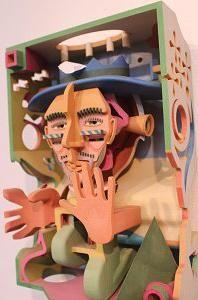 Wooden 3D printed art by Robert Geshlider