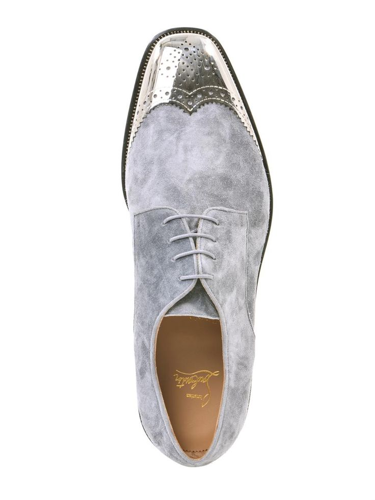 death-de-dior: CHRISTIAN LOUBOUTIN Gareth metal-capped suede shoes