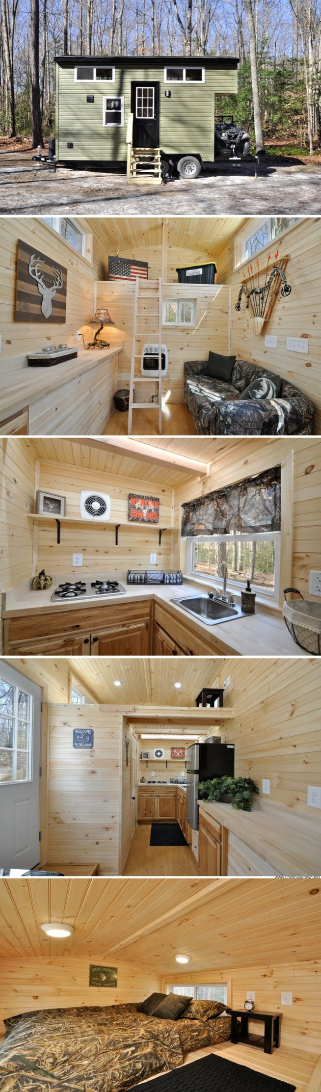 The Timberland: a 195 sq ft home from the Tiny House Building Company