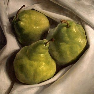 """Cozy Pears"" - Original Fine Art for Sale - © Michael Naples - Art Curator & Art Adviser. I am targeting the most exceptional art! Catalog @ http://www.BusaccaGallery.com"