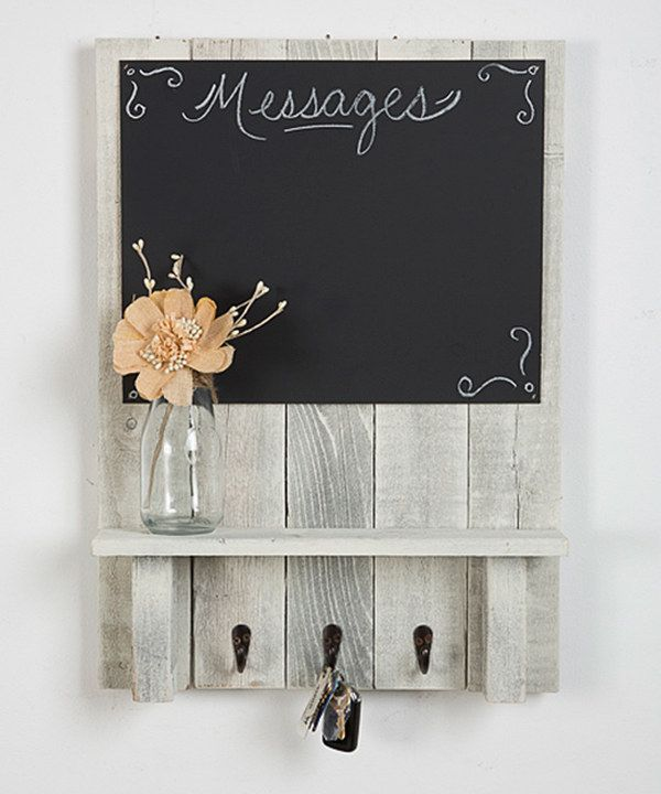 Look at this Distressed Wood Memo Chalkboard on #zulily today!