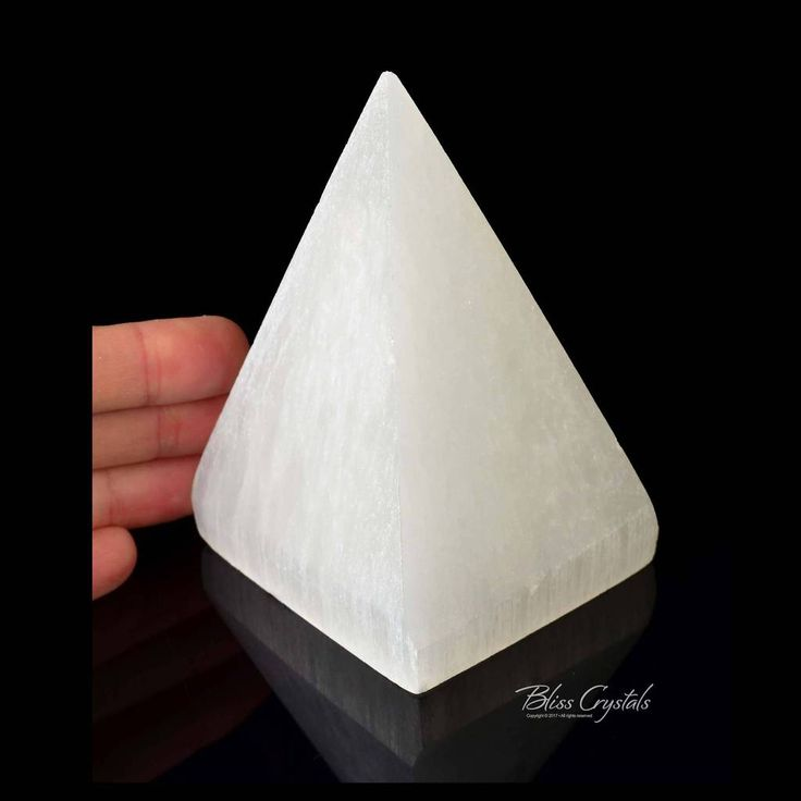 Pretty! 1 XL SELENITE Pyramid 4inch Point Generator Tower Polished High Natural Stone Healing Crystal and Stone Meditation Feng Shui