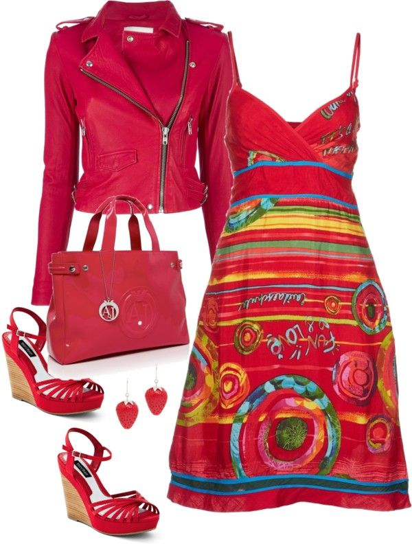 Desigual red summer dress (don't like the jacket.....)