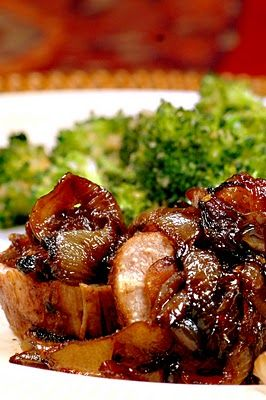 Savoring Time in the Kitchen: Pork Tenderloin with Brown Sugar-Caramelized Onions and the Best Broccoli I've Ever Had!