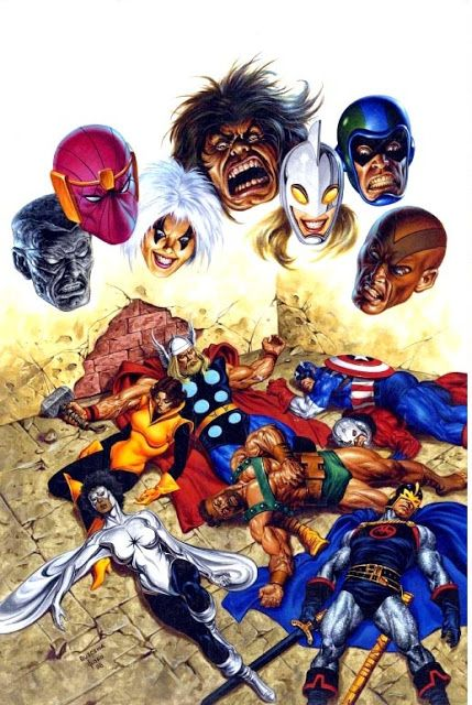 Anatomy of a cover - Joe Jusko's cover for the Avengers Under Siege TPB
