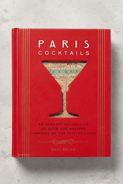 Paris cocktails coffee table book