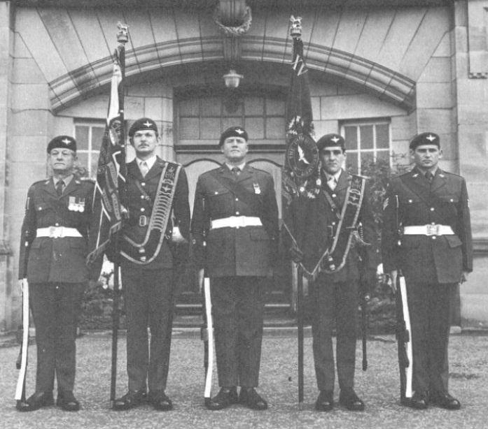 Presentation of new Colours to the 15th (Scottish Volunteer) Battalion, The Parachute Regiment in 1982