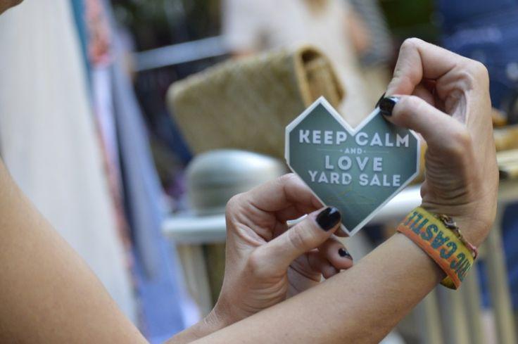 keep calm and love yard sale
