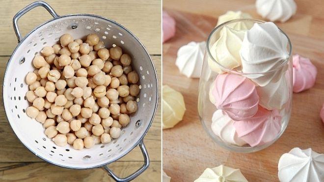 Aquafaba – cizokrajné jméno pro obyčejnou ingredienci, o jejíž tajemné vlastnosti jsme až doposud nevěděli. Voda z konzervované cizrny směle zastoupí vaječný bílek tam, kde nesmí chybět. Tedy v majonéze, těstě, zmrzlině… Kdy jste měli naposledy sněhové pusinky, vegani?