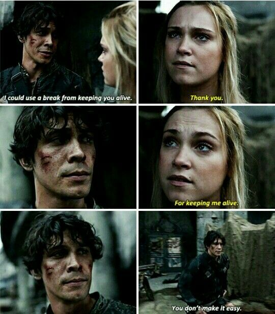 The100 4x01 Quot Echoes Quot Clarke And Bellamy ☆☆i Ve Got