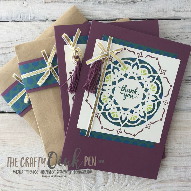 Eastern Beauty Medallion card and gift set for my Team by Mikaela Titheridge, The Crafty oINK Pen, UK Stampin' Up! Demonstrator, Supplies through my online store 24/7