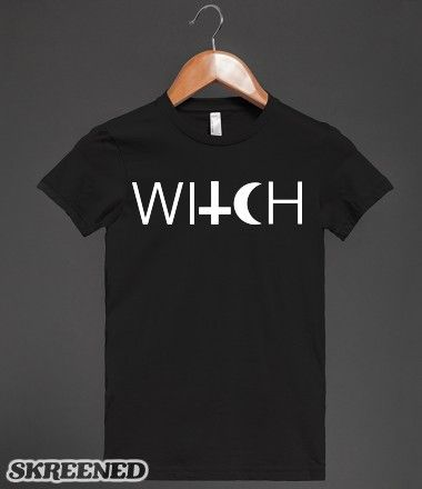 Witch | Show off your love for the occult with this classic design. this halloween have a whole coven following you asking about your shirt. #SKREENED #witch, #halloween, #spooky, #satan, #cross
