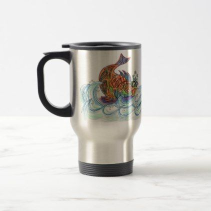 Fish out of Water Travel Mug - home gifts ideas decor special unique custom individual customized individualized
