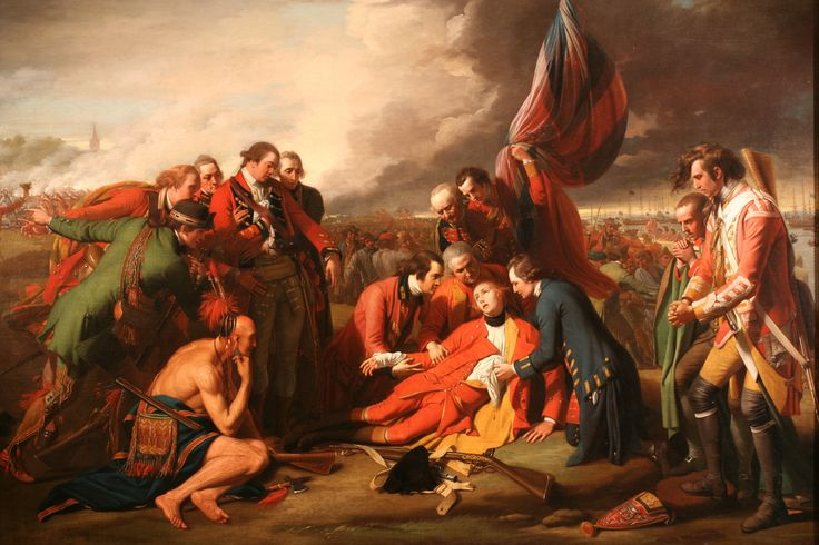 The Death of General Wolfe at the Battle of Quebec (1759) by Benjamin West (1771, first showing) #hst202