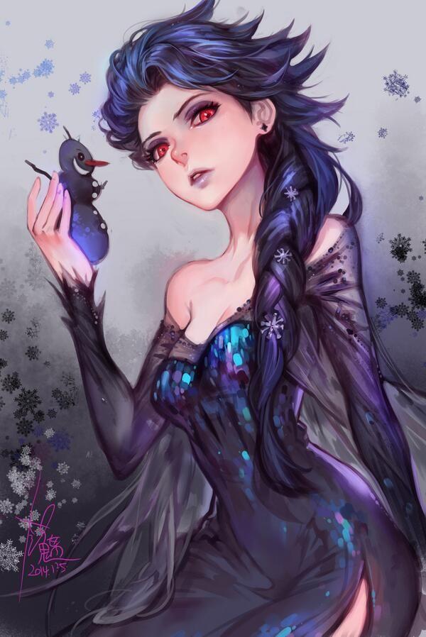 Dark Elsa.....0.O I love it<--- THIS IS THE REASON I WILL SHIP LOKI AND ELSA....