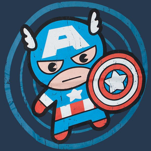 Merica Cartoon Cute Captain America Cartoon T Shirt