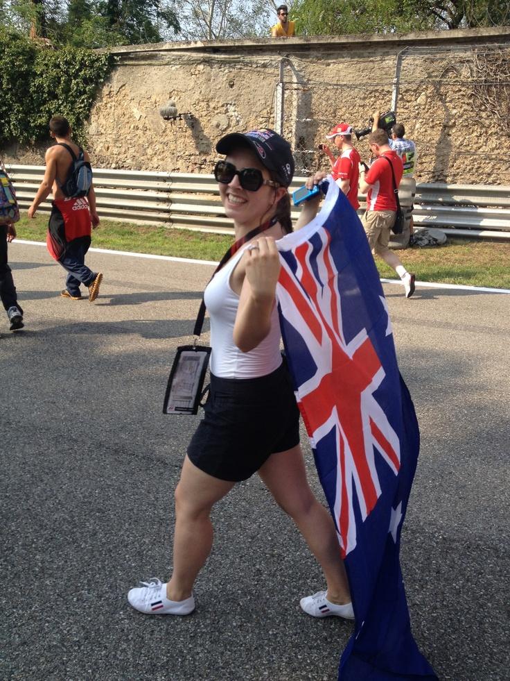 Post race track walk - Monza 2012