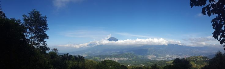 View of Volcán de Agua from Volcán de Pacaya #hiking #camping #outdoors #nature #travel #backpacking #adventure #marmot #outdoor #mountains #photography
