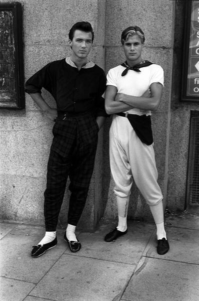 Martin Kemp and Steve Norman (of Spandau Ballet), Kings Road 1980.