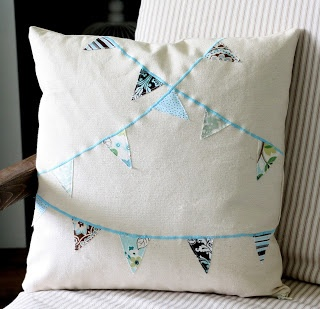 How to make a bunting pillow cover