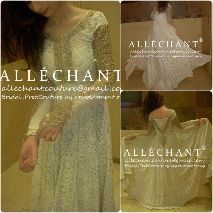 The sleeves! Pakistani Couture Dresses ~ http://www.allechant.org