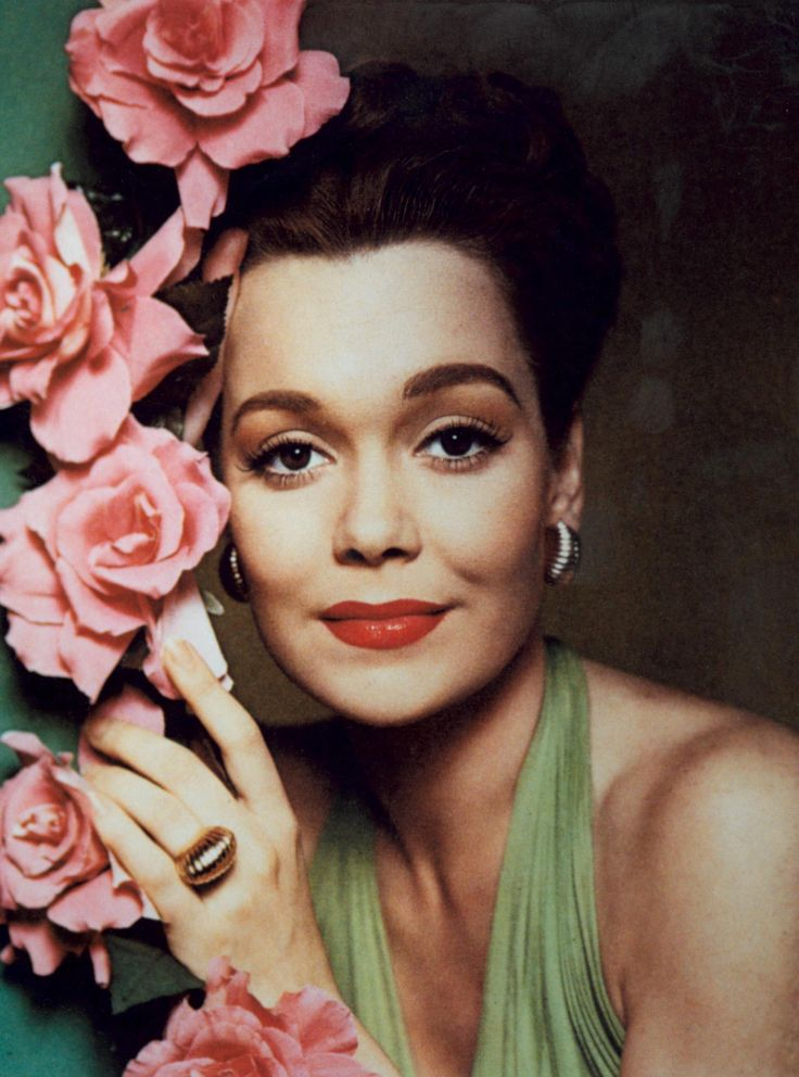 """JANE WYMAN ~ Born: Jan.4, 1917, in Palm Springs, USA. Died: Sept.10, 2007 (aged 90) from arthritis & diabetes. Won an Oscar for Best Actress in """"Johnny Belinda"""" (1948). Starred in Alfred Hitchcock's """"Stage Fright"""" (1950). Co starred w/ Bing Crosby in """"Just for You"""" (1952). Starred in """"Pollyanna"""" (1960). Primarily remembered by the public for her starring role as Angela Channing on """"Falcon Crest"""" (1981). She retired from acting at age 76. Married Ronald Reagan in 1940, divorced 1948."""