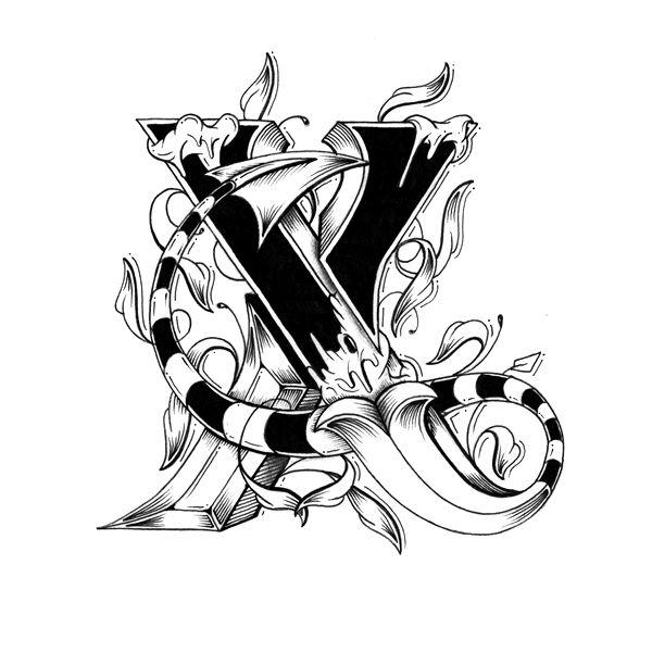 x - love letters font - raul alejandro