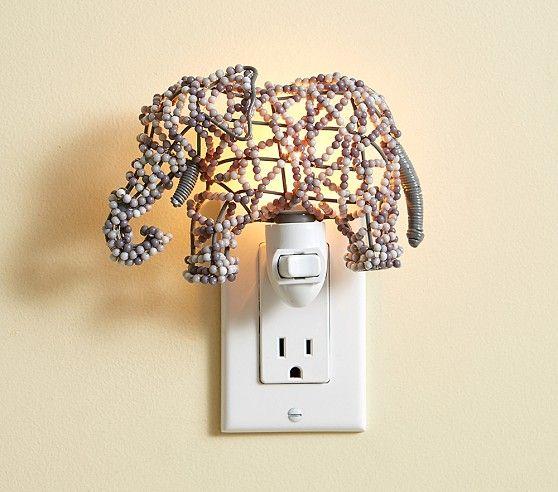 Elephant Beaded Nightlight | Pottery Barn Kids