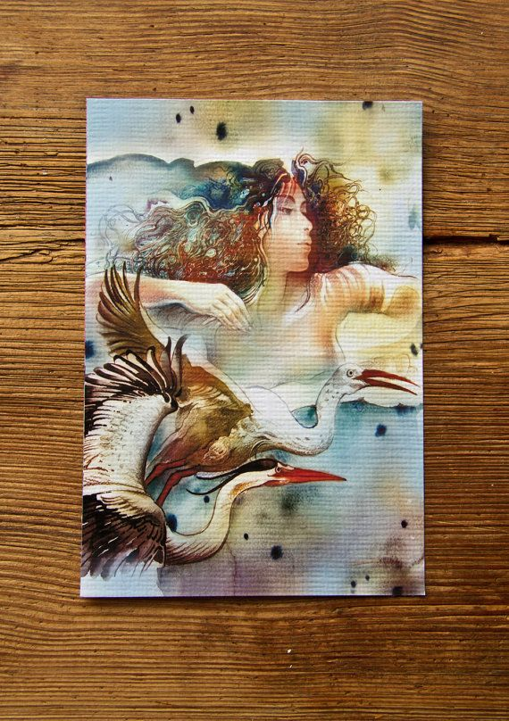 """""""THE SAGITTARIUS"""" (*Dancing with Birds"""") - Protective Angel for Zodiac Sign..."""