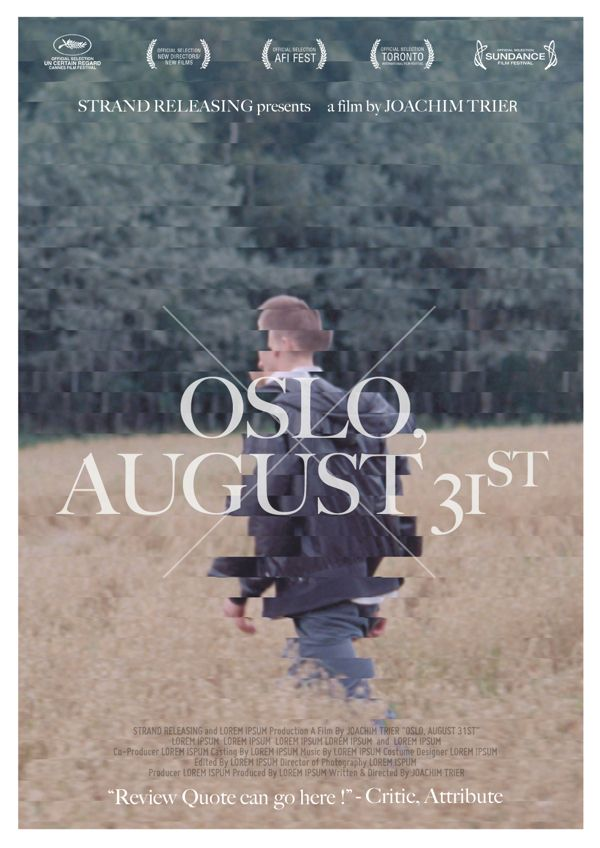OSLO AUGUST 31st Comps by Will Dai, via Behance
