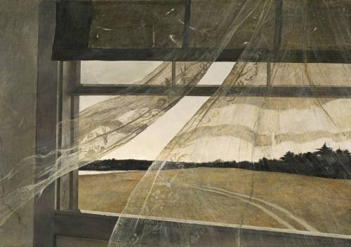 """Andrew Wyeth - """"Wind from the Sea"""" ('Viento..."""