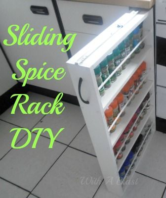 How to build a sliding spice rack