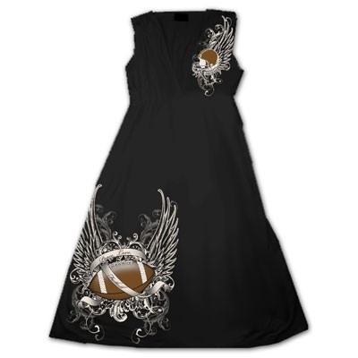 """How cool is this? Black V-Neck Rhinestone #FOOTBALL Dress! $32.00 + Free shipping when you enter the coupon code """"PINTEREST"""" during online checkout."""
