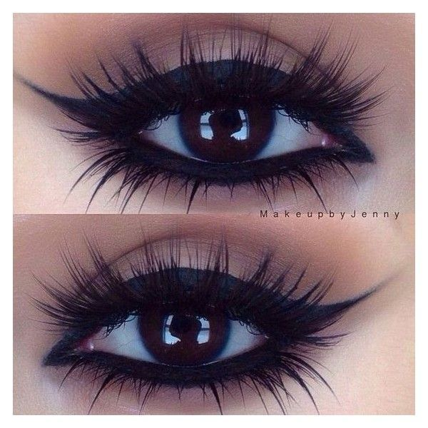 smokey eye makeup for small eyes ❤ liked on Polyvore featuring beauty products, makeup, eye makeup, eyeshadow, beauty, eyes and eye make up