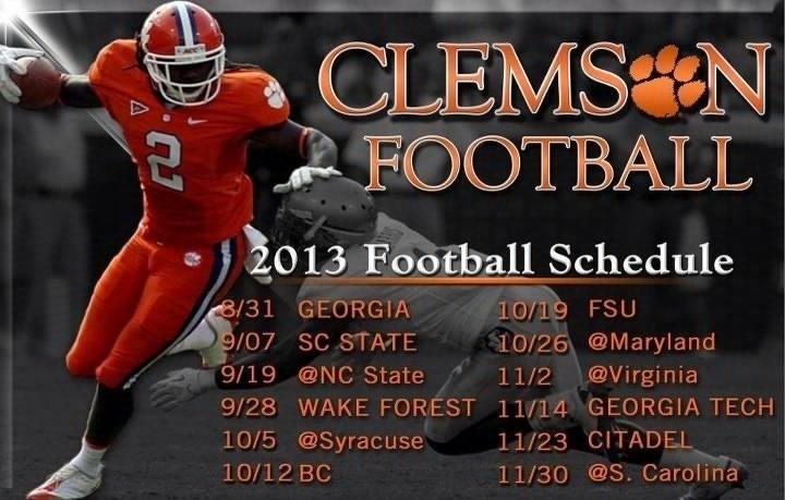 2013 Clemson football schedule Clemson football schedule