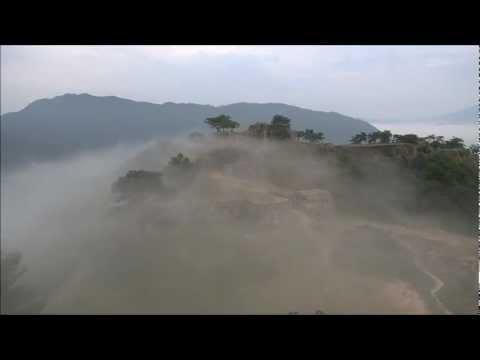 Takeda Castle Ruin  Wadayamacho Takeda, Asago, Hyogo Prefecture天空の城  竹田城跡 空撮 加藤豪