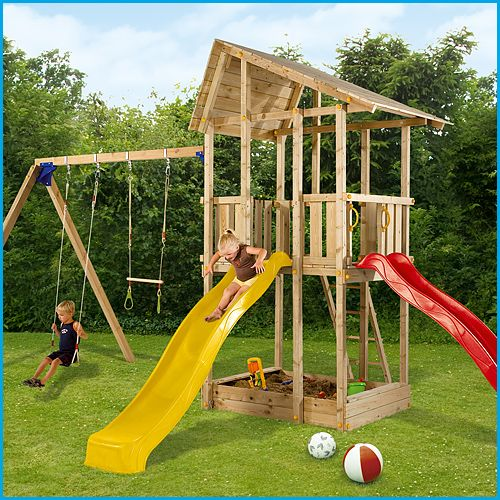 Blue Rabbit Hangar #wooden climbing frames for kids see more at www.woodenclimbingframe.co.uk