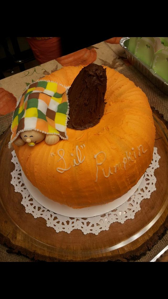 Pumpkin Shaped Baby Shower Cake