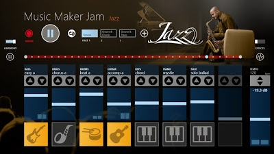 Music Maker Jam is a free Windows 8 app for creating music tracks to download and use in multimedia projects