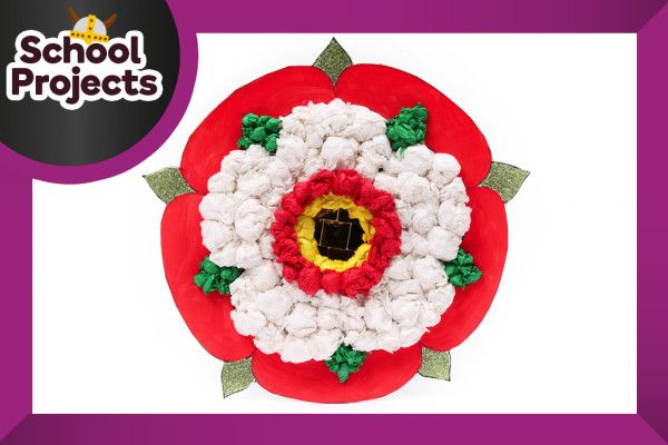 How to make Tudor rose art