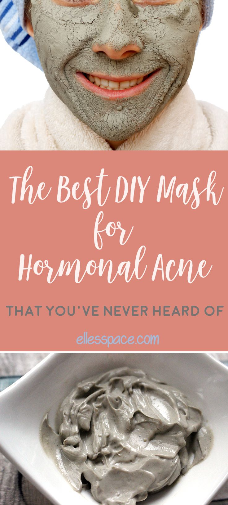 DIY Mask for Hormonal Acne  Get rid of stubborn acne with this powerful drawing mask. Clay, tea tree oil and a secret ingredient are all you need for flawless skin.