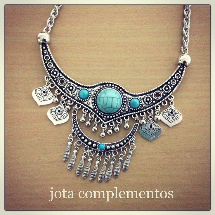 Pechera con piedras turquesa   #anticipoOtoño-invierno2017#estilojota#accesorios#fashion#tendencia#amorxeldiseño#unico#musthave#diseñodeautor