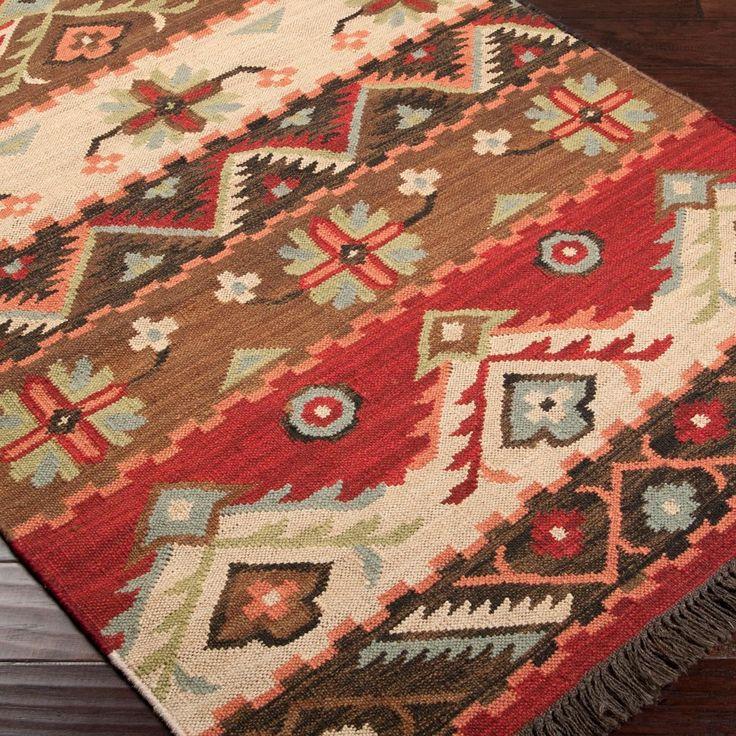 Native Blanket Flatweave Wool Kilim Rug   Southwestern ...