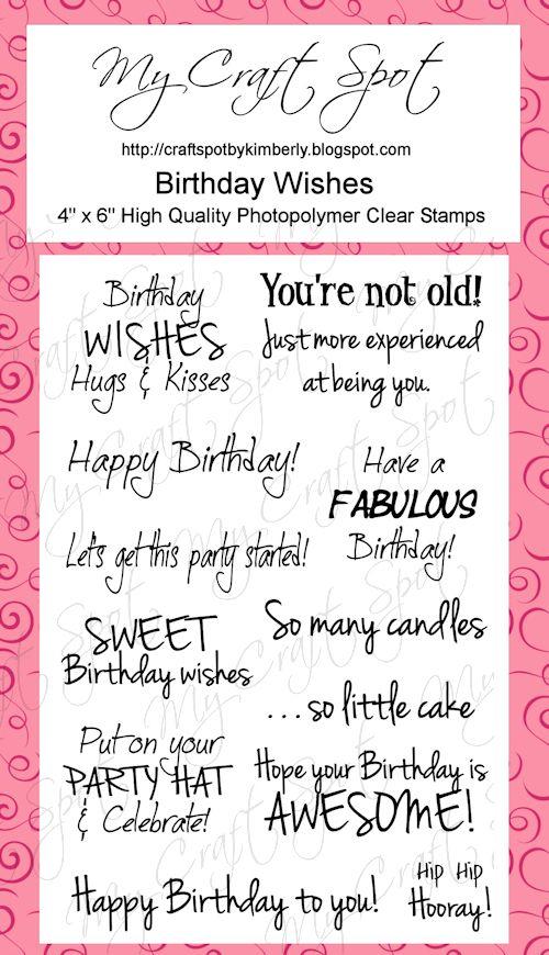 Birthday Wishes stamp set